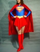 Lycra spandex Zentai red blue all-inclusive tights superhero women costume