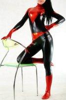 Lycra zentai spandex Black zentai red glue color block decoration all-inclusive tights m98