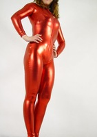 free shipping full body sexy lycra spandex Zentai red glue gym suit all-inclusive tights bodysuit
