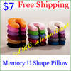 Several Color Factory direct U shape massage memory foam pillow,zero stress healthy U neck memory pillow Textile u shape letter(China (Mainland))