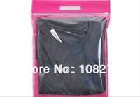 100x Rose color 35*27CM Clear Plastic and Non-woven for clothes/ T shirt /Trousers Zip lock Packaging bags