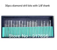 New 2 case/ lot 60pcs Diamond Bur Bits Drill For Engraving Dremel Rotary Tool Set 3mm Shanks Wholesale Price