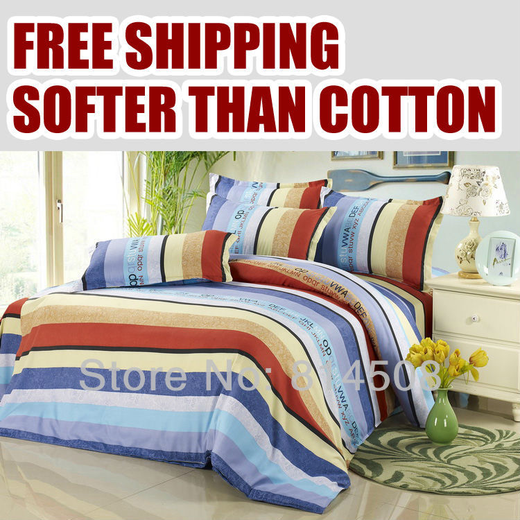 Hot sell softer than cotton duvet cover#16/Without pillowcase and flat sheet /bedclothes/bedding set/bed linen+free shipping(China (Mainland))