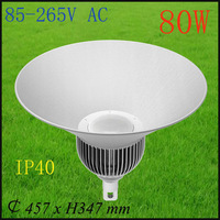 LED high bay light/80W industrial light/hot sale pc high bay light,canopy light/free shipping for UPS