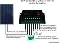 60W  Polycrystal Solar Panel Power Kit