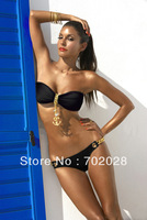 2013 Sexy LADY/WOMEN METAL PENDANT Swimsuit Swimwear Padded Bra Bikini SET S M L