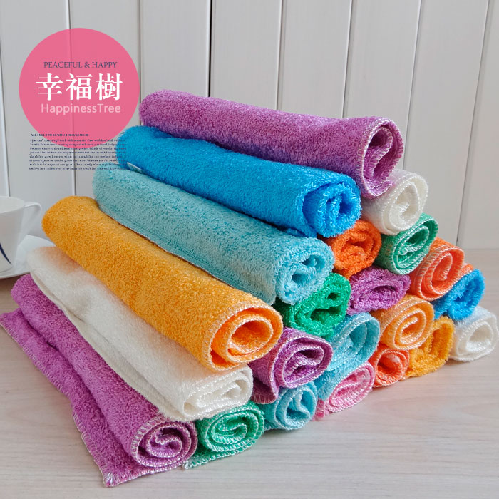 Dishclout bamboo fibre Large wash towel oil wash cloth double layer thickening(China (Mainland))