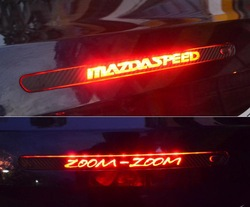 Mazda car carbon fiber modified products car stickers brake light personalized decoration stickers(China (Mainland))