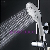 Free Shipping Wholesale / Retail NEW Ultrathin 5-Function Water Saving Bathroom Handheld Shower Handy Sprayer Bath Accessories