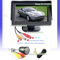 Free shipping Parking Assistance Car ccd hd camera night vision and car TFT monitor backup camera parking system