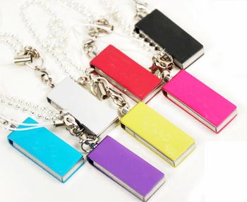 free shipping Small usb flash drive 2g usb flash drive rotary keychain usb flash drive logo