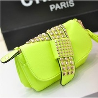 Free shipping--2013 new Couture rivet 7 colors hand bag,tote bags women handbag