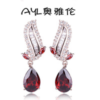 Stud earring the queen of quality fashion elegant earrings ruby jewelry