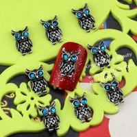 wholesale 2013 new  3D Alloy silver Nail Art stickers Rhinestones Decoration Nail art 100PCS/LOT nail jewelry free shipping
