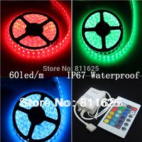 5m 300LED IP67 Tube waterproof RGB 12V 5050 LED Strip light/Outdoor lights + 24 keys IR Remote Controller