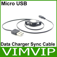 Retractable Micro USB Data Charger Sync Cable For HTC Blackberry Sumsang Galaxy S3 i9300 Free Shipping