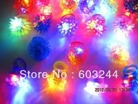Free Ship 50pcs Crown Strawberry Smile Face Led Light Up Flashing Bubble Elastic Ring Rave Party Blinking Soft Finger Lights