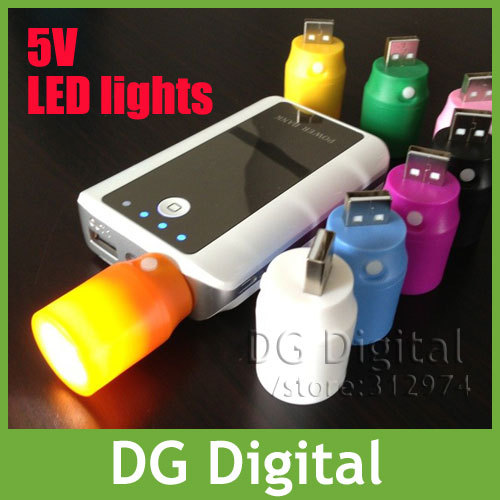 Portable 5V USB mobile Power Light head/ torch head work with power bank/backup mobile charger for emergancy USE(China (Mainland))