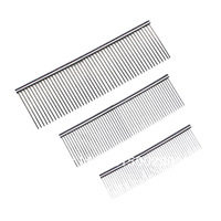 Stainless steel pet grooming comb dog comb pet cleaning grooming comb 3sizes