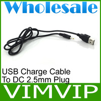 50Pcs/Lot DC 2 FT USB charge cable to DC 2.5 mm plug/jack Free Shipping+Wholesale