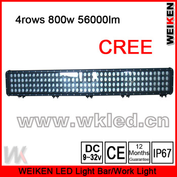 4ROWS IP67 offroad ATV UTV SUV high power 52'' 800w 56000lm  led off road light bar