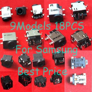 9ModelsX 2=18PCS Laptop DC Power Jack Socket Connector For Samsung NP-R N NC RC RV QX Series, R510 RV510 RV520 NP300 NP700 XE500