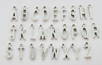 156PCS Assorted of Antiqued Silver Colour alphabet letter charms #22929