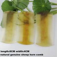 Wholesale 5PCS/lots Natural genuine sheep horn comb hotel comb gift comb hair comb -J700061