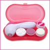 2set/lot Mini 4 in 1 Electronic Body Beauty Massage Skin Pore Massager Facial Face Cleaning Callus Remover Machine Free Shipping