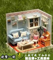 Diy mini handmade dollhouse diy model toy diy assembling model