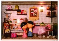 Gift diy handmade three-dimensional puzzle model diy dollhouse
