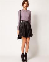 hot sale 2014 new arrivel fashion turn down collar long sleeve women  blouses
