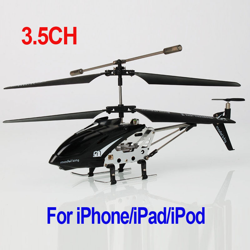 Freeshipping Wifi Control 3.5 CH RC Helicopter Gyro for iPhone/iPad/iPod Black/white Wholesale dropshipping(China (Mainland))