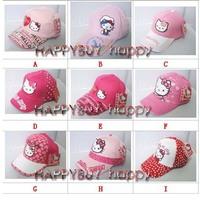 Free shipping Hello kitty Children's Hats baseball cap sun hat KID