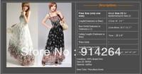 HOT Pretty Lady Spaghetti Strap Flower Maxi Bohemian Long Chiffon Dress One Size     free shipping