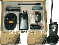 2pcs/lot Free shipping free Stable performance two way radio 400-420mhz HYT TC-500 FM transceiver