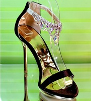 2013 fashion Star style diamond lady dress shoes wedding high heel pumps women sandals evening sexy sandals YL6835