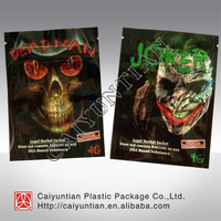 Dead man herbal incense potpourri plastic packaging bag/ aluminum foil zipper packaging bag