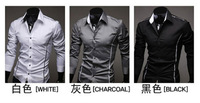 2014 hot sale Free Shipping New Mens Shirts Casual Slim Fit Stylish Mens Dress Shirts 5902