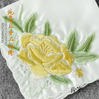Quality gift female pure silk mulberry silk handmade embroidery women's handkerchief embroidered handkerchief