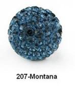 Free Shipping Shamballa beads Wholesales, Pave Clay Disco Crystal Ball Beads 10mm, #207 Montana,  20pcs/lot