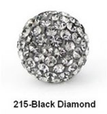 Free Shipping Shamballa beads Wholesales, Pave Clay Disco Crystal Ball Beads 10mm,  20pcs/lot