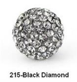 Free Shipping Shamballa beads Wholesales, Pave Clay Disco Crystal Ball Beads 10mm,  20pcs/lot
