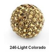 Free Shipping Shamballa beads Wholesales, Pave Clay Disco Crystal Ball Beads 10mm, #246 Light Colorado ,  20pcs/lot