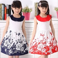 Retail 1 pcs Children's Dresses baby girl clothing summer 2013 Hollow flower Fashion free shipping CC0013