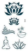 W31 limited edition waterproof tattoo stickers tatto yoga female lotus series