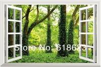 window tree  window sticker 120*80cm sofa background  pvc  art   art mural home decor Removable wall sticker  fj-13