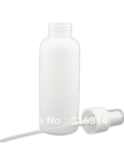 100ml empty white plastic pe bottle with fine mist,sprayer ,plastic bottle(China (Mainland))