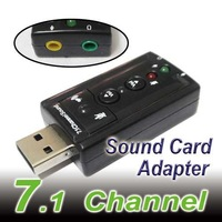 USB External 3D Audio PC Sound Card Adapter 7.1 Channel+ Free shipping
