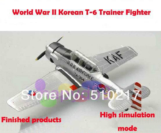 free ship military aircraft model Korean T-6 trainer fighter 1/72 finished world war II piston propeller fighter model(China (Mainland))